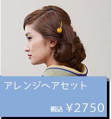 はなやかヘアセット(髪飾り付き)1500円