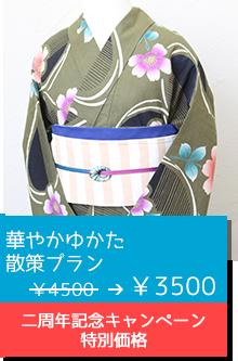 華やかゆかた散策プラン ¥4500